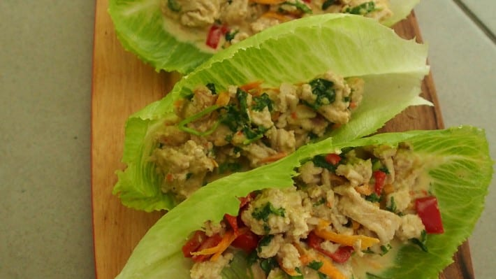 Chicken Coconut Lettuce Wraps